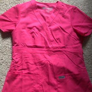 Pink women's greys anatomy scrubs
